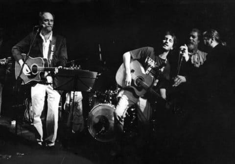 Con Francesco De Gregori e Luigi Grechi